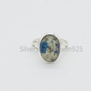 Shop Jasper Rings! Natural K2 Jasper Ring, Handmade Rings, K2 Jasper Ring, Rings For Her, K2 Ring, Birthstone Ring, White Stone Ring, Meditation Ring, Gift | Natural genuine Jasper rings, simple unique handcrafted gemstone rings. #rings #jewelry #shopping #gift #handmade #fashion #style #affiliate #ad