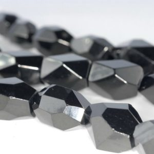 Shop Jet Beads! 16×12-20x14mm Black Jet Gemstone Organic Faceted Nugget Cube Loose Beads 16 inch Full Strand (90186874-883)   Natural genuine chip Jet beads for beading and jewelry making.  #jewelry #beads #beadedjewelry #diyjewelry #jewelrymaking #beadstore #beading #affiliate #ad