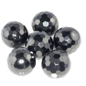 Shop Jet Beads! 17mm Black Jet Gemstone Organic Micro Faceted Round Loose Beads 16 inch Full Strand (90186938-887)   Natural genuine faceted Jet beads for beading and jewelry making.  #jewelry #beads #beadedjewelry #diyjewelry #jewelrymaking #beadstore #beading #affiliate #ad
