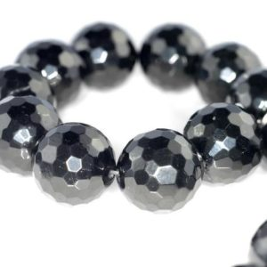 Shop Jet Beads! 24mm Black Jet Gemstone Organic Micro Faceted Round Loose Beads 6 Beads (90186936-887)   Natural genuine faceted Jet beads for beading and jewelry making.  #jewelry #beads #beadedjewelry #diyjewelry #jewelrymaking #beadstore #beading #affiliate #ad