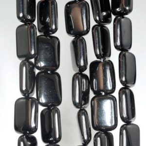 Shop Jet Beads! 10x8mm Black Jet Gemstone Rectangle Loose Beads 16 inch Full Strand (90186915-825)   Natural genuine other-shape Jet beads for beading and jewelry making.  #jewelry #beads #beadedjewelry #diyjewelry #jewelrymaking #beadstore #beading #affiliate #ad