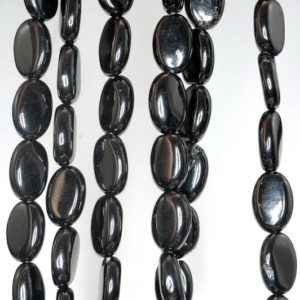 Shop Jet Beads! 12x8mm Black Jet Gemstone Oval Loose Beads 16 inch Full Strand (90186922-825)   Natural genuine other-shape Jet beads for beading and jewelry making.  #jewelry #beads #beadedjewelry #diyjewelry #jewelrymaking #beadstore #beading #affiliate #ad