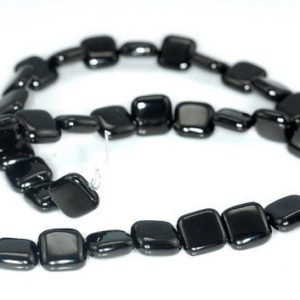 Shop Jet Beads! FREE USA Ship 10x10mm Black Jet Gemstone Perfect Square 10mm Loose Beads 16 inch Full Strand LOT 1,2,6,12 and 50 (90186910-824)   Natural genuine other-shape Jet beads for beading and jewelry making.  #jewelry #beads #beadedjewelry #diyjewelry #jewelrymaking #beadstore #beading #affiliate #ad
