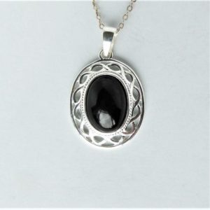 Shop Jet Pendants! Whitby Jet And Silver Rope Edge Pendant   Natural genuine Jet pendants. Buy crystal jewelry, handmade handcrafted artisan jewelry for women.  Unique handmade gift ideas. #jewelry #beadedpendants #beadedjewelry #gift #shopping #handmadejewelry #fashion #style #product #pendants #affiliate #ad