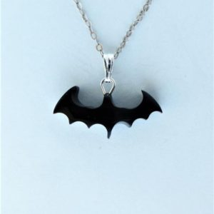 Shop Jet Jewelry! Whitby Jet Bat Shape Pendant | Natural genuine Jet jewelry. Buy crystal jewelry, handmade handcrafted artisan jewelry for women.  Unique handmade gift ideas. #jewelry #beadedjewelry #beadedjewelry #gift #shopping #handmadejewelry #fashion #style #product #jewelry #affiliate #ad