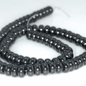 Shop Jet Beads! FREE USA Ship 8×4-8x5mm Black Jet Gemstone Rondelle Loose Beads 16 inch Full Strand LOT 1,2,6 and 12 (90186888-824)   Natural genuine rondelle Jet beads for beading and jewelry making.  #jewelry #beads #beadedjewelry #diyjewelry #jewelrymaking #beadstore #beading #affiliate #ad