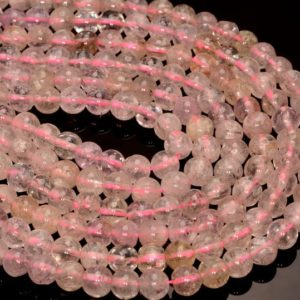 Shop Kunzite Beads! 7-8mm Genuine Pink Gemmy Kunzite Gemstone Grade AA Transparent Pink Nugget Round Loose Beads 7.5 inch Half Strand (80005398 H-464)   Natural genuine chip Kunzite beads for beading and jewelry making.  #jewelry #beads #beadedjewelry #diyjewelry #jewelrymaking #beadstore #beading #affiliate #ad