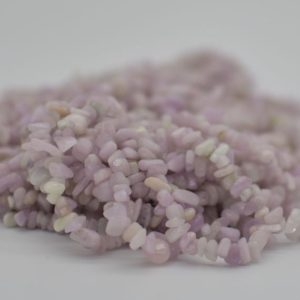 """Shop Kunzite Beads! High Quality Grade A Natural Kunzite Semi-precious Gemstone Chips Nuggets Beads – 5mm – 8mm, approx 36"""" Strand   Natural genuine chip Kunzite beads for beading and jewelry making.  #jewelry #beads #beadedjewelry #diyjewelry #jewelrymaking #beadstore #beading #affiliate #ad"""