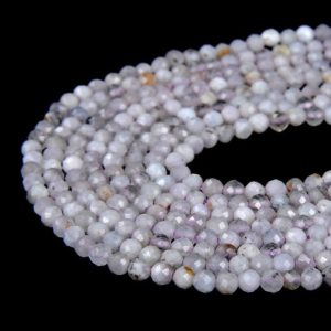 Shop Kunzite Beads! 2MM Light Purple Kunzite Gemstone Grade A Micro Faceted Round Loose Beads 15.5 inch Full Strand (80008845-P11)   Natural genuine faceted Kunzite beads for beading and jewelry making.  #jewelry #beads #beadedjewelry #diyjewelry #jewelrymaking #beadstore #beading #affiliate #ad