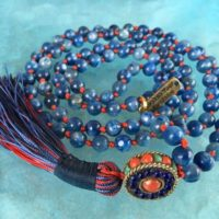 7 Mm Aaa Grade Kyanite Mala Beads Necklace, Kyanite Jewelry, Kyanite Knotted Healing Mala Beads, Energized 108 Genuine Kyanite Gemstone Mala | Natural genuine Gemstone jewelry. Buy crystal jewelry, handmade handcrafted artisan jewelry for women.  Unique handmade gift ideas. #jewelry #beadedjewelry #beadedjewelry #gift #shopping #handmadejewelry #fashion #style #product #jewelry #affiliate #ad