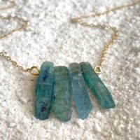 Raw Kyanite Necklace – Kyanite Jewelry – Beach Necklace – Long Kyanite Necklace – Blue Gemstone – Mermaid Necklace – Limited Edition   Natural genuine Gemstone jewelry. Buy crystal jewelry, handmade handcrafted artisan jewelry for women.  Unique handmade gift ideas. #jewelry #beadedjewelry #beadedjewelry #gift #shopping #handmadejewelry #fashion #style #product #jewelry #affiliate #ad