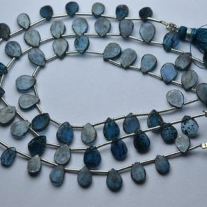 Shop Kyanite Bead Shapes! 8 Inch Strand,Natural Teal Moss Kyanite Fancy Pear Shape Briolettes,Size.7-8.5mm | Natural genuine other-shape Kyanite beads for beading and jewelry making.  #jewelry #beads #beadedjewelry #diyjewelry #jewelrymaking #beadstore #beading #affiliate #ad