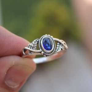 Kyanite Ring, 925 Sterling Silver Ring, Handmade Ring, Choose your stone for ring, Boho Ring, Christmas Present, Women's Ring. Free Shipping | Natural genuine Gemstone rings, simple unique handcrafted gemstone rings. #rings #jewelry #shopping #gift #handmade #fashion #style #affiliate #ad