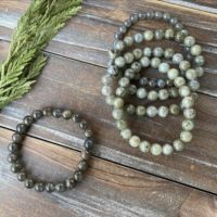 Labradorite Crystal Beaded Bracelet | Natural genuine Gemstone jewelry. Buy crystal jewelry, handmade handcrafted artisan jewelry for women.  Unique handmade gift ideas. #jewelry #beadedjewelry #beadedjewelry #gift #shopping #handmadejewelry #fashion #style #product #jewelry #affiliate #ad