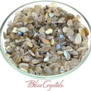 """Shop Tumbled Labradorite Crystals & Pocket Stones! 28 gm LABRADORITE """"Moonglow"""" Small Tumbled Stones for Intuition #LM06 