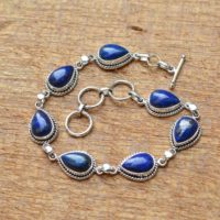 Lapis Lazuli Bracelet, 925 Sterling Silver Bracelet, Lapis Lazuli 8×12 Mm Pear Gemstone Bracelet, Lapis Bracelet, Silver Bracelets, | Natural genuine Gemstone jewelry. Buy crystal jewelry, handmade handcrafted artisan jewelry for women.  Unique handmade gift ideas. #jewelry #beadedjewelry #beadedjewelry #gift #shopping #handmadejewelry #fashion #style #product #jewelry #affiliate #ad