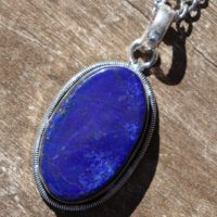 Unisex Lapis Healing Stone Necklace With Positive Healing Energy! | Natural genuine Gemstone jewelry. Buy crystal jewelry, handmade handcrafted artisan jewelry for women.  Unique handmade gift ideas. #jewelry #beadedjewelry #beadedjewelry #gift #shopping #handmadejewelry #fashion #style #product #jewelry #affiliate #ad