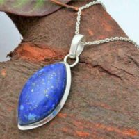 Exclusive 925 Sterling Silver Blue Lapis Lazuli Pendant, Gemstone Pendant, Gift Pendant, Handmade Pendant, Pendant Necklace, Stone Jewelry, | Natural genuine Gemstone jewelry. Buy crystal jewelry, handmade handcrafted artisan jewelry for women.  Unique handmade gift ideas. #jewelry #beadedjewelry #beadedjewelry #gift #shopping #handmadejewelry #fashion #style #product #jewelry #affiliate #ad