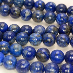 Shop Lapis Lazuli Round Beads! 10mm Natural Lapis Lazuli Blue Round 10mm Loose Beads 7.5 inch Half Strand (90144641-258) | Natural genuine round Lapis Lazuli beads for beading and jewelry making.  #jewelry #beads #beadedjewelry #diyjewelry #jewelrymaking #beadstore #beading #affiliate #ad