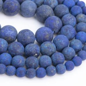 Shop Lapis Lazuli Round Beads! Natural Matte Deep Blue Lapis Lazuli Loose Beads Grade A Round Shape 6mm 8mm 10mm 15mm | Natural genuine round Lapis Lazuli beads for beading and jewelry making.  #jewelry #beads #beadedjewelry #diyjewelry #jewelrymaking #beadstore #beading #affiliate #ad
