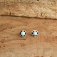 Larimar Edge Posts – Larimar Studs – Dominican Larimar Earrings – Silversmith – Sterling Silver Posts | Natural genuine Gemstone jewelry. Buy crystal jewelry, handmade handcrafted artisan jewelry for women.  Unique handmade gift ideas. #jewelry #beadedjewelry #beadedjewelry #gift #shopping #handmadejewelry #fashion #style #product #jewelry #affiliate #ad