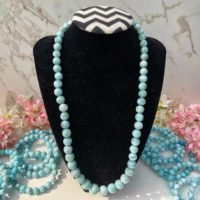 Larimar Bead Necklace | Natural Larimar Stone | Crystal Jewelry | Crystal Necklace – No 119 #5 | Natural genuine Gemstone jewelry. Buy crystal jewelry, handmade handcrafted artisan jewelry for women.  Unique handmade gift ideas. #jewelry #beadedjewelry #beadedjewelry #gift #shopping #handmadejewelry #fashion #style #product #jewelry #affiliate #ad
