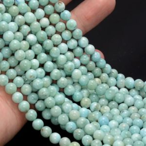 Shop Larimar Round Beads! Free USA Ship 6-7MM Dominican Larimar Gemstone Grade AA Sky Blue Round Beads 7.5 inch Half Strand LOT 1,2,6,12 and 50 (80004841-450)   Natural genuine round Larimar beads for beading and jewelry making.  #jewelry #beads #beadedjewelry #diyjewelry #jewelrymaking #beadstore #beading #affiliate #ad