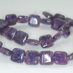 Shop Lepidolite Bead Shapes! 12X12mm Purple Lepidolite Gemstone Grade AA Square Beads 15.5 inch Full Strand BULK LOT 1,2,6,12 and 50 (90188348-670) | Natural genuine other-shape Lepidolite beads for beading and jewelry making.  #jewelry #beads #beadedjewelry #diyjewelry #jewelrymaking #beadstore #beading #affiliate #ad