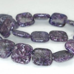 Shop Lepidolite Bead Shapes! 20X20mm Purple Lepidolite Gemstone Grade AA Square Beads 8 inch Half Strand BULK LOT 1,2,6,12 and 50 (90188066-704B) | Natural genuine other-shape Lepidolite beads for beading and jewelry making.  #jewelry #beads #beadedjewelry #diyjewelry #jewelrymaking #beadstore #beading #affiliate #ad