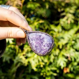 Shop Lepidolite Pendants! Lepidolite  Protection Necklace Gifts For Her – Healing Crystal Pendant – Handmade Wire Wrapped Pendant – Gifts For Wife   Natural genuine Lepidolite pendants. Buy crystal jewelry, handmade handcrafted artisan jewelry for women.  Unique handmade gift ideas. #jewelry #beadedpendants #beadedjewelry #gift #shopping #handmadejewelry #fashion #style #product #pendants #affiliate #ad