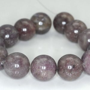Shop Lepidolite Round Beads! 16mm Lavender Purple Lepidolite Gemstone Grade A Round Beads 8 inch Half Strand BULK LOT 1,2,6,12 and 50 (90187976-667) | Natural genuine round Lepidolite beads for beading and jewelry making.  #jewelry #beads #beadedjewelry #diyjewelry #jewelrymaking #beadstore #beading #affiliate #ad