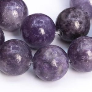 Shop Lepidolite Round Beads! 38 / 19 Pcs – 9-10MM Heather Purple Lepidolite Beads Grade A Genuine Natural Round Gemstone Loose Beads (112550) | Natural genuine round Lepidolite beads for beading and jewelry making.  #jewelry #beads #beadedjewelry #diyjewelry #jewelrymaking #beadstore #beading #affiliate #ad