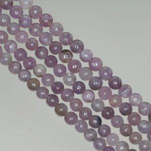 Shop Lepidolite Round Beads! 4mm Light Purple Lepidolite Gemstone Grade A Round Beads 15.5 inch Full Strand BULK LOT 1,2,6,12 and 50 (90188458-650) | Natural genuine round Lepidolite beads for beading and jewelry making.  #jewelry #beads #beadedjewelry #diyjewelry #jewelrymaking #beadstore #beading #affiliate #ad