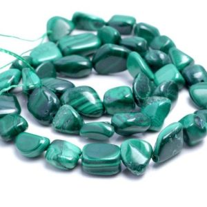 Shop Malachite Chip & Nugget Beads! 6-7MM Green Malachite Gemstone Pebble Nugget Granule Loose Beads 15 inch Full Strand (80002188-A35) | Natural genuine chip Malachite beads for beading and jewelry making.  #jewelry #beads #beadedjewelry #diyjewelry #jewelrymaking #beadstore #beading #affiliate #ad