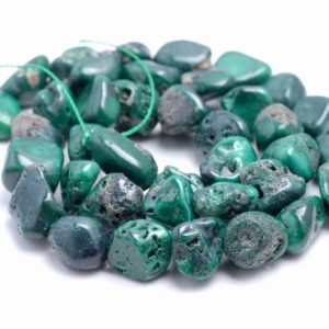 Shop Malachite Chip & Nugget Beads! 9-10MM  Malachite Gemstone Grade AB Pebble Nugget Granule Loose Beads 15.5 inch Full Strand (80002190-A0) | Natural genuine chip Malachite beads for beading and jewelry making.  #jewelry #beads #beadedjewelry #diyjewelry #jewelrymaking #beadstore #beading #affiliate #ad
