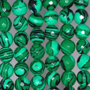 Shop Malachite Faceted Beads! 10mm Hedge Mazes Malachite Gemstone Green Faceted Round 10mm Loose Beads 15.5 inch Full Strand (90146237-217) | Natural genuine faceted Malachite beads for beading and jewelry making.  #jewelry #beads #beadedjewelry #diyjewelry #jewelrymaking #beadstore #beading #affiliate #ad