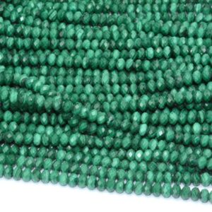 Shop Malachite Faceted Beads! Malachite Faceted Beads, Natural Gemstone Beads, Rondelle Stone Beads 2.5-3×3-4mm 15'' | Natural genuine faceted Malachite beads for beading and jewelry making.  #jewelry #beads #beadedjewelry #diyjewelry #jewelrymaking #beadstore #beading #affiliate #ad