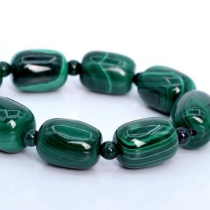 """Shop Malachite Bead Shapes! 18x13MM – 16x12MM Malachite Beads Barrel Drum South Africa AA Genuine Natural Half Strand Beads 7.5"""" BULK LOT 1,3,5,10,50 (106035h-1820)   Natural genuine other-shape Malachite beads for beading and jewelry making.  #jewelry #beads #beadedjewelry #diyjewelry #jewelrymaking #beadstore #beading #affiliate #ad"""