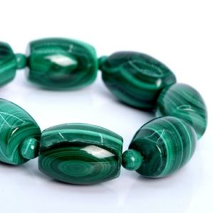 """Shop Malachite Bead Shapes! 20x15MM – 17x13MM Malachite Beads Barrel Drum South Africa AA Genuine Natural Half Strand Beads 7.5"""" BULK LOT 1,3,5,10,50 (106056h-1820)   Natural genuine other-shape Malachite beads for beading and jewelry making.  #jewelry #beads #beadedjewelry #diyjewelry #jewelrymaking #beadstore #beading #affiliate #ad"""