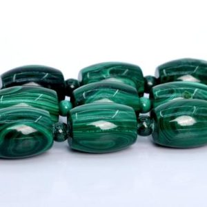 """Shop Malachite Bead Shapes! 20x15MM – 17x13MM Malachite Beads Barrel Drum South Africa AA Genuine Natural Full Strand Beads 15"""" BULK LOT 1,3,5,10,50 (106056-1820)   Natural genuine other-shape Malachite beads for beading and jewelry making.  #jewelry #beads #beadedjewelry #diyjewelry #jewelrymaking #beadstore #beading #affiliate #ad"""