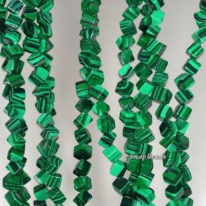 Shop Malachite Beads! 6mm Malachite Gemstone Green Diagonal-drill Square Cube 6mm Loose Beads 15.5 Inch Full Strand (90146405-154) | Natural genuine beads Malachite beads for beading and jewelry making.  #jewelry #beads #beadedjewelry #diyjewelry #jewelrymaking #beadstore #beading #affiliate #ad