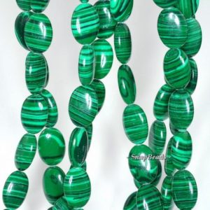Shop Malachite Bead Shapes! Hedge Mazes Malachite Gemstone Green Oval 14x10mm Loose Beads 7 inch Half Strand (90145139-218)   Natural genuine other-shape Malachite beads for beading and jewelry making.  #jewelry #beads #beadedjewelry #diyjewelry #jewelrymaking #beadstore #beading #affiliate #ad