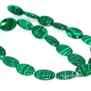 Shop Malachite Bead Shapes! Hedge Mazes Malachite Gemstone Green Oval 18x13mm Loose Beads 7 Inch Half Strand (90145141-218)   Natural genuine other-shape Malachite beads for beading and jewelry making.  #jewelry #beads #beadedjewelry #diyjewelry #jewelrymaking #beadstore #beading #affiliate #ad