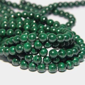 Shop Malachite Beads! Natural Malachite Beads A quality 8mm Good Quality Genuine Malachite Beads Green Gemstone Beads Green Mala Beads Green Semi Precious Beads | Natural genuine beads Malachite beads for beading and jewelry making.  #jewelry #beads #beadedjewelry #diyjewelry #jewelrymaking #beadstore #beading #affiliate #ad