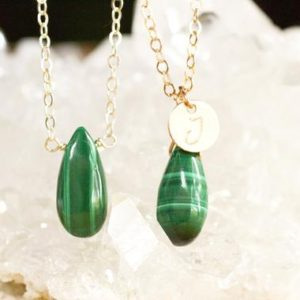 Shop Malachite Pendants! Malachite Necklace –  Personalized Malachite Jewerly for Her – October Birthstone – Gift for Her  – Chakra Pendant Nekcklace | Natural genuine Malachite pendants. Buy crystal jewelry, handmade handcrafted artisan jewelry for women.  Unique handmade gift ideas. #jewelry #beadedpendants #beadedjewelry #gift #shopping #handmadejewelry #fashion #style #product #pendants #affiliate #ad