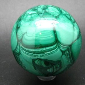 """Shop Malachite Shapes! Amazing Rich Vivid Vibrant Green Malachite Sphere Ball From Congo – 2.1"""" 