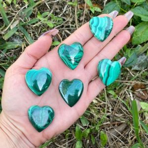 Shop Malachite Shapes! Malachite Crystal Heart, Drilled Malachite Heart, Puffy Heart, Healing Crystals, Crystal Hearts, Palm, Pocket, Malachite | Natural genuine stones & crystals in various shapes & sizes. Buy raw cut, tumbled, or polished gemstones for making jewelry or crystal healing energy vibration raising reiki stones. #crystals #gemstones #crystalhealing #crystalsandgemstones #energyhealing #affiliate #ad