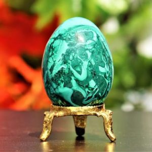 Small 55MM Natural Green Malachite Stone Chakra Healing Crystals Meditation Metaphysical Power Egg | Natural genuine stones & crystals in various shapes & sizes. Buy raw cut, tumbled, or polished gemstones for making jewelry or crystal healing energy vibration raising reiki stones. #crystals #gemstones #crystalhealing #crystalsandgemstones #energyhealing #affiliate #ad