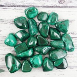 Shop Tumbled Malachite Crystals & Pocket Stones! Malachite Tumbled Stones, Reiki Infused A Extra Grade Wire Wrapping Self Care Healing Crystals | Natural genuine stones & crystals in various shapes & sizes. Buy raw cut, tumbled, or polished gemstones for making jewelry or crystal healing energy vibration raising reiki stones. #crystals #gemstones #crystalhealing #crystalsandgemstones #energyhealing #affiliate #ad