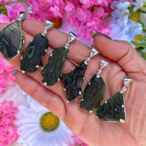 """Genuine Moldavite Necklace – from Czech Republic """"The Stone of Transformation""""-Reiki Crystal Healing- Genuine- One piece-Lot 27 
